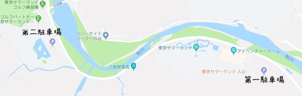 サマーランド駐車場の地図